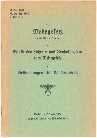 Verzeichnis Marine-Dienstvorschriften M.Dv. Nr. 800 - 849